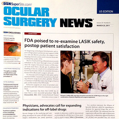 Richard Duffey, MD featured in Ocular Surgery News in March 2011