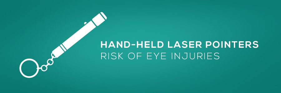 hand held laser pointers risk of eye injuries web banner