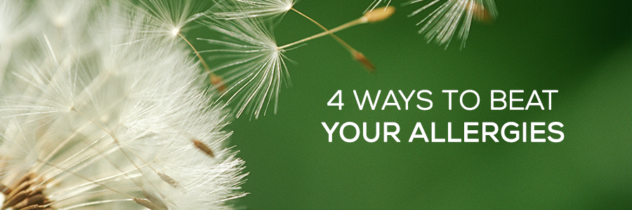 4 ways to beat your allergies web banner