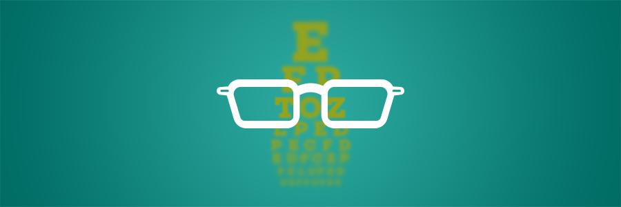 Cataracts. glasses illustration