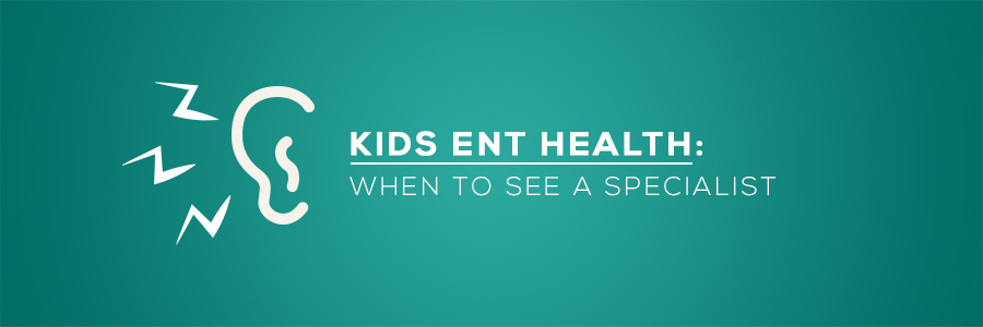 Kids ENT Health When to See a Specialist. Ear and sound illustration