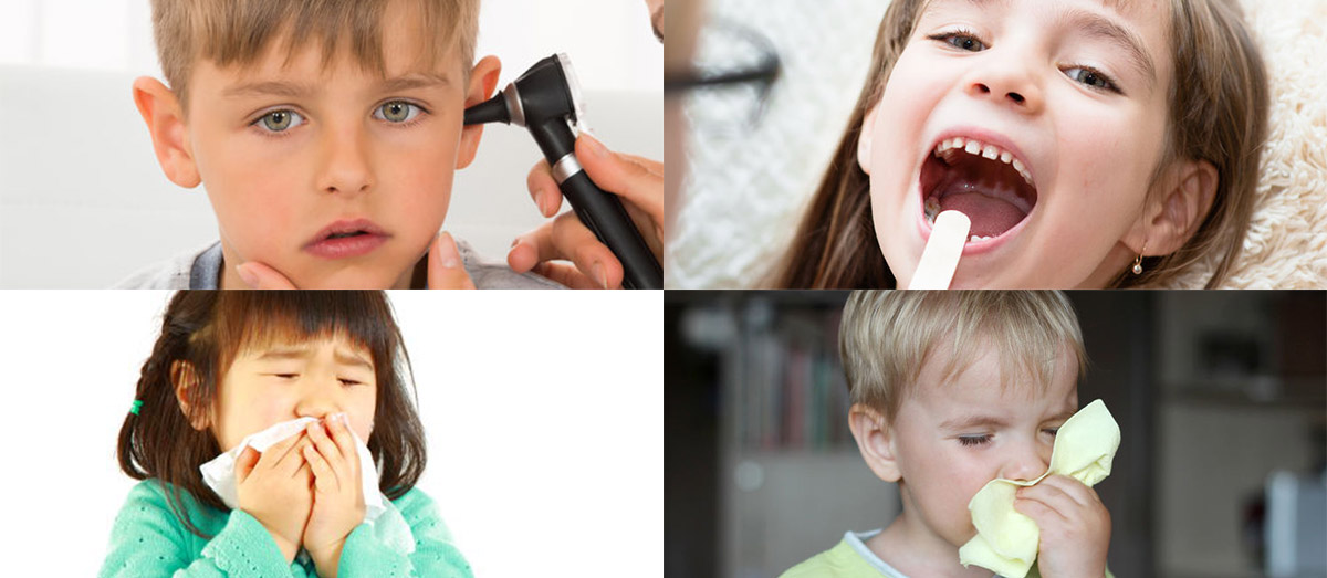 Four most common ENT illnesses in Children