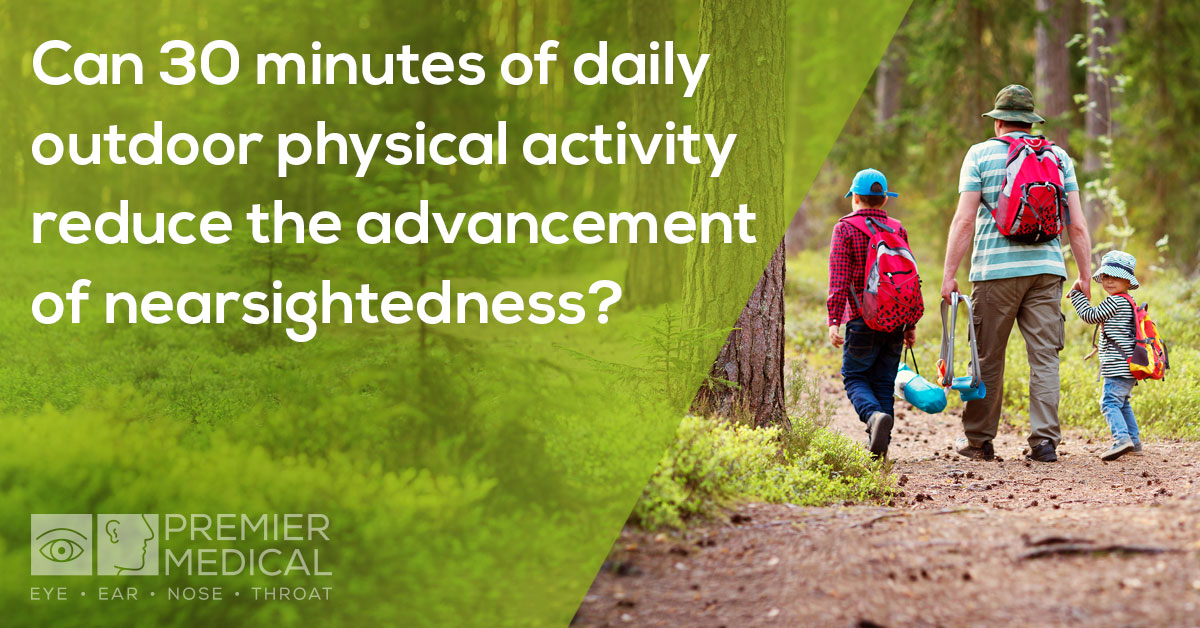 30 minutes of daily outdoor physical activity reduces the advancement of nearsightedness
